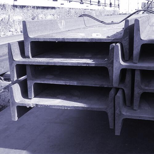 Балка с уклоном внутренних граней полок